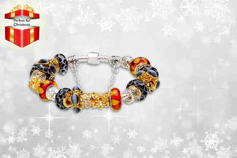 Hatton Garden Jewels - Gorgeous charm bracelet in a choice of 12 designs - Save 87%