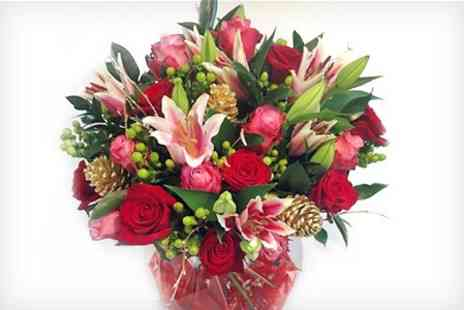Flowers Direct - Christmas Bouquets With Personalised Message and Named  - Save 50%