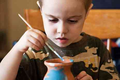 Rainbow Crazy - Kids Pottery Painting Class - Save 52%