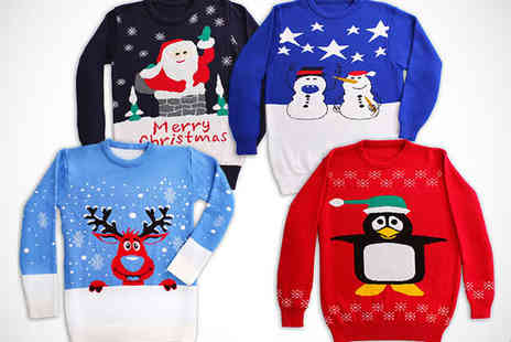 Chums - Christmas Jumper with Choice of Design - Save 67%