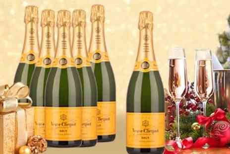 Champagne Charlies - Six bottles of Veuve Clicquot NV Champagne - Save 52%