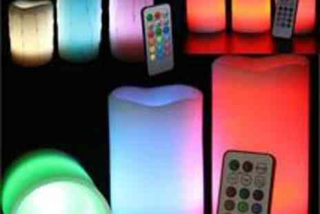 babz - Smooth  DRIP Effect Remote Control Colour Changing LED Flameless Wax Candles - Save 56%