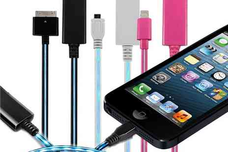 babz - LED Charge & Sync Cable For iPhone & Other Smarphones - Save 67%