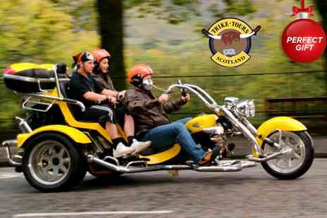 Trike Tours Scotland - Chauffeured motor trike ride & photoshoot   - Save 61%