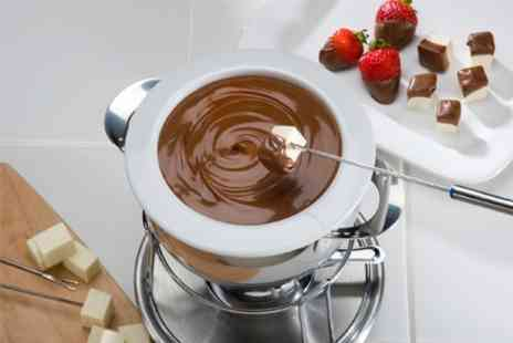 Cafe Bruxelles - Belgian Chocolate Fondue With Wine For Two - Save 50%