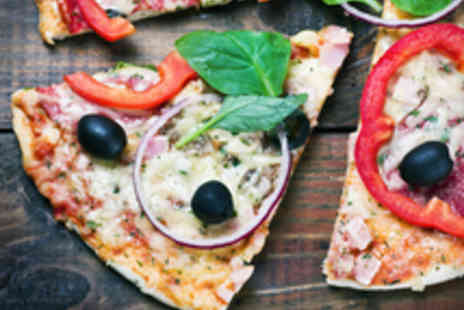 Portofino Bar and Restaurant - Pizzas and a Glass of Wine Each for Two People - Save 49%