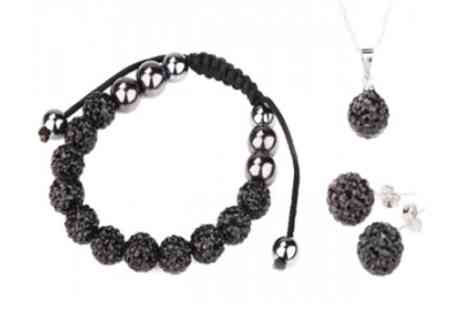 Amelia Zahara - Black Shamballa tri set - Save 96%
