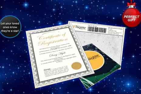 Star Register - Name a star gift kit - Save 60%