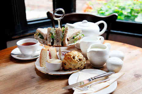 The Stuart Hotel - Afternoon tea for 2 including sandwiches, scones, cakes and a tea or coffee - Save 65%