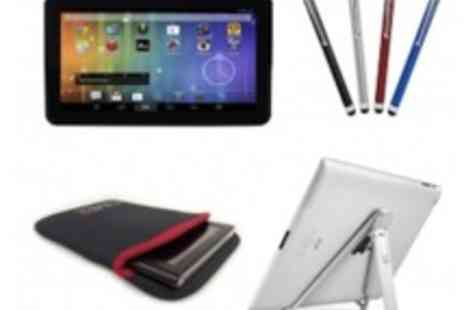 Time2Direct - 10.1� Dual Core Android 4.2 Tablet Plus Aluminium Stand Plus Protective Sleeve - Save 57%