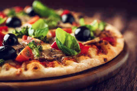 PizzaSi Cafe - Pizza soft drink & tea or coffee - Save 53%