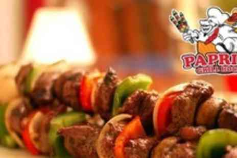 Paprika Grill House - Three Course Meal From the Grill For Two - Save 64%