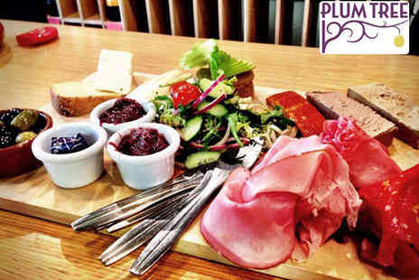 The Plum Tree - Deli Platter for Two with Wine - Save 63%