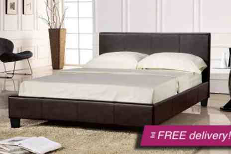 Visco Therapy - Prado faux leather double or king size bed - Save 57%