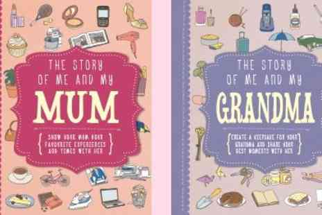 Parragon Books - Beautiful Mum and Grandmas Personalised Activity Family Journal - Save 50%