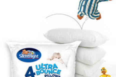 UK Bedding - Silentnight 4X Ultrabounce Pillows - Save 40%
