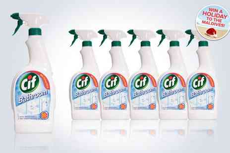 kgb grocery - Six bottles of CIF bathroom and shower spray - Save 50%