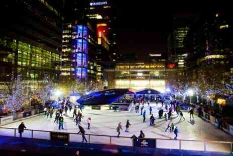 Ice Rink Canary Wharf - One Hour Session For Two People - Save 67%