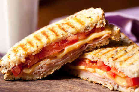As Thyme Goes By - Panini Cake and Hot Drink Each for Two - Save 53%