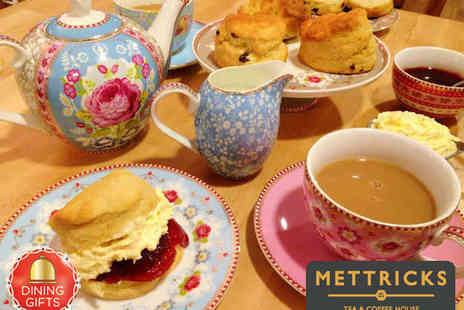 Mettricks Tea & Coffee House - Cream Tea with New Forest Jam and Loose Leaf Tea for Two - Save 58%