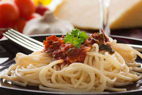 Buon Appetito - Starter, followed by Pizza or Pasta or Main Course with Side and Glass of Wine Each for Two - Save 52%