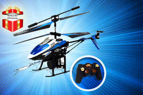Giant Red 7 - Water firing remote control helicopter - Save 75%