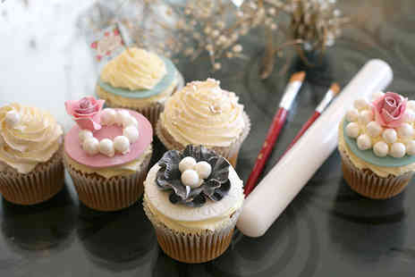 Angel Cakes - Cupcake decorating macaron making or bread making class for one - Save 76%