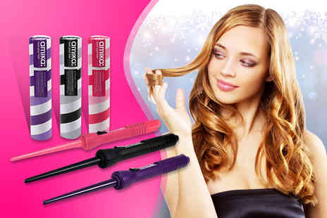 High Definition - Amika tourmaline curling iron in a choice of 3 colours - Save 76%