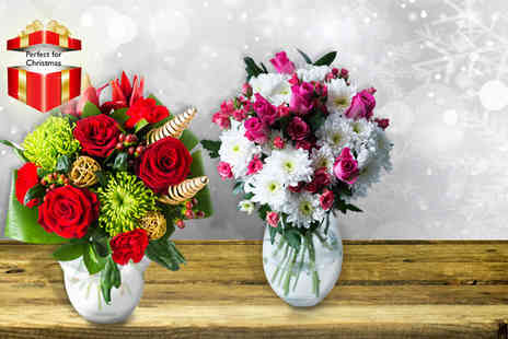 Flowers Direct - choice of 4 festive bouquets of flowers - Save 50%