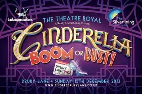 The Silverlining - West End Panto Ticket to Cinderella Boom or Bust - Save 58%