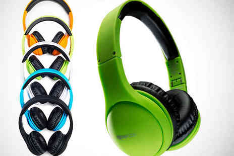 Boompods - Foldable Headphones with Built In Mic and Remote in Choice of Five Colours - Save 56%