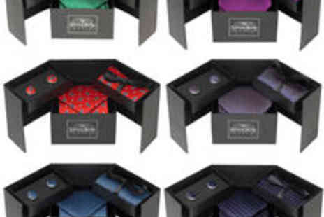 Savile Row Company - Tie, Cufflink And  Handkerchief Gift Set 13 Colour Options - Save 71%