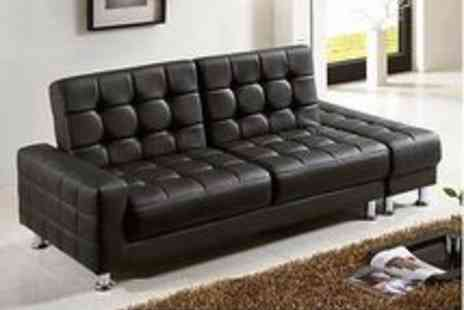 italiandesignerbeds - Knightsbridge Luxury Sofa Bed With Storage Unit Supplied in Black  White or Red - Save 34%