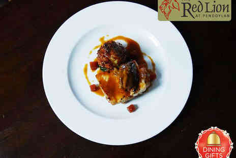 The Red Lion - Starter Main and Large Glass of Wine for Two - Save 56%