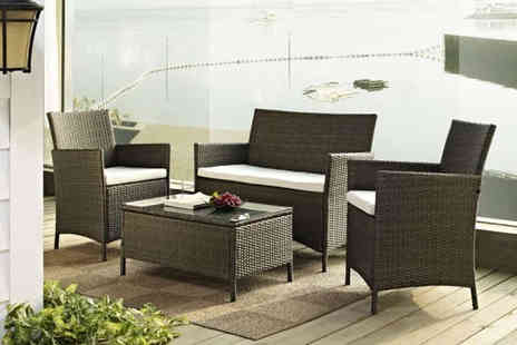 Furniture Detail - Four Piece Garden Furniture Set with Two Single Chairs - Save 70%