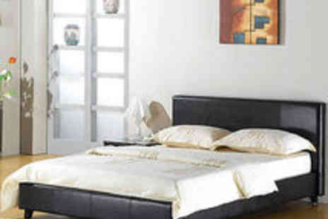 homefurnishingsuk - Leather Bed Double King Black Brown White With Memory Foam Orthopaedic Mattress - Save 42%