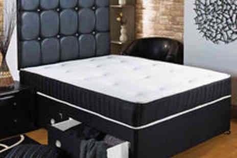 homefurnishingsuk - Black Memory Soft Divan Bed Sprung Memory Foam Mattress - Save 0%