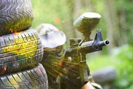 Scotch Corner Paintball Village - Paintball With Lunch For Five  - Save 87%