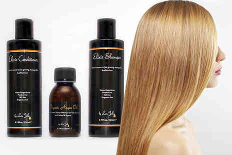 Les Joli - Elixir Hair Oil Shampoo and Conditioner Set - Save 51%