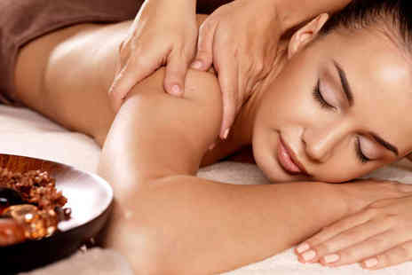 Joy Beauty Therapy - Luxury Back Neck and Shoulder Thermal Massage Treatment with Body Scrub - Save 71%