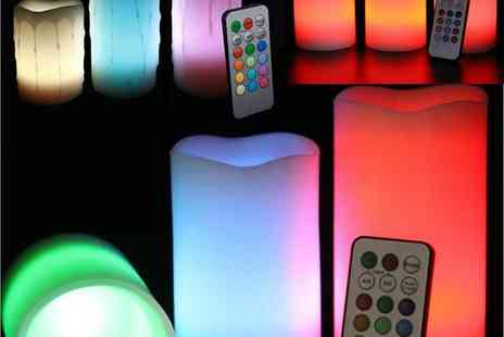 babz - Smooth DRIP Effect Remote Control Colour Changing LED Flameless Wax Candles - Save 60%