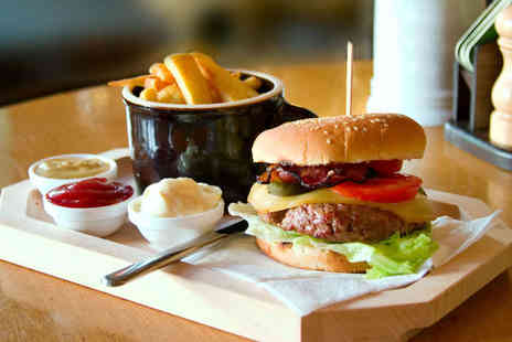 The Underbrook - Burger with Sides and Glass of Wine for One - Save 55%