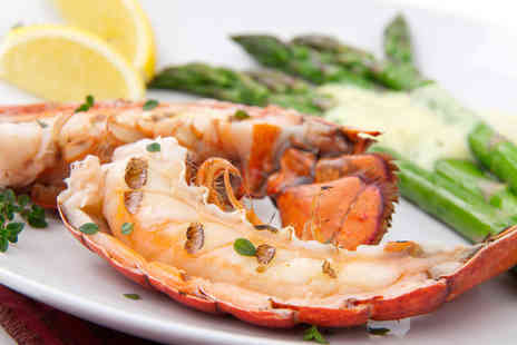 Marisko Seafood Restaurant - Lobster meal for 2 including a glass of wine and dessert - Save 42%