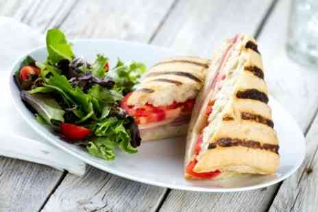 Devine Cafe - Panini, Cake and Coffee For Two - Save 55%