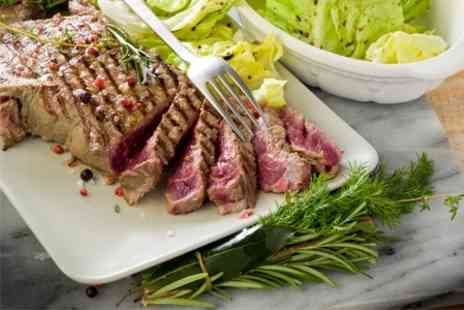 The Blue Steak - Chateaubriand Meal For Two With Wine - Save 50%