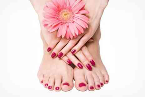 The Fringe - Shellac Manicure and Pedicure - Save 56%