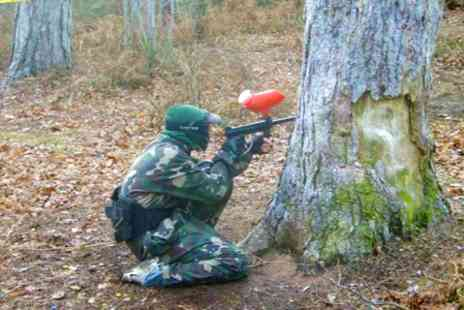 Skirmish Central - Paintballing With Pizza and 100 Balls Each - Save 77%