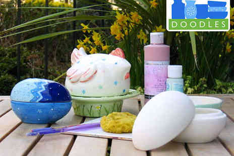 Doodles Ceramics Workshop - Two Hour Pottery Painting Workshop for Two - Save 53%