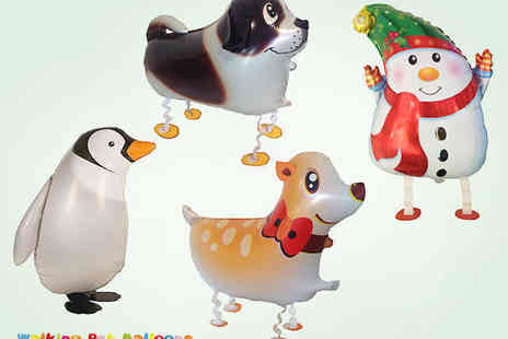 Walking Pet Balloons - Four Walking Animal Balloons - Save 58%