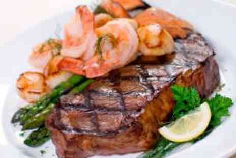 Merrylee Road Bar and Kitchen - Two Surf n Turf Steak Meals with Wine - Save 55%